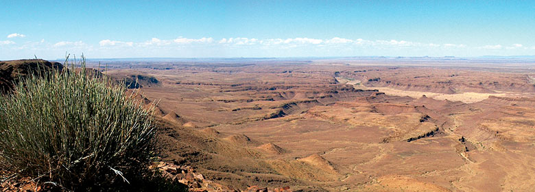 View to the Fish River Canyon
